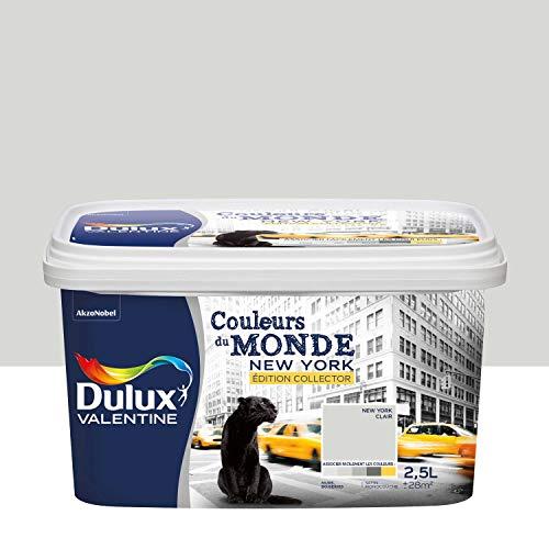 Dulux Valentine 5254042colores del monde-édition Collector pintura monocouche-toutes pièces-intérieur, newyork Clair (gris), 2,5L