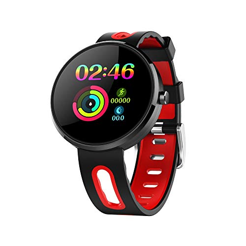 Smart Wear DM78 Plus 1.22 inch IPS Screen Bluetooth Smart Watch, IP68 Waterproof, Support Pedometer / Blood Pressure Monitor / Sleep Monitor, Compatible with Android and iOS Phones (Black)