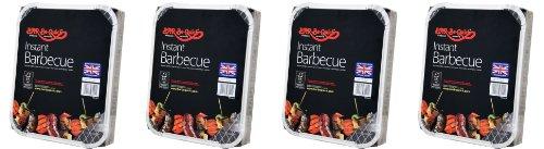 4 X Bar-Be-Quick-Schnell Grill-Packs Jede Packung Feeds zu 4 Personen-Welt beste Marke führenden Einweg-Grill