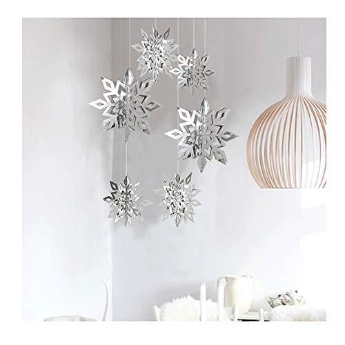 longyisound 6 stks/set Driedimensionale Holle Sneeuwvlok Hangend Karton - 3D Sneeuwvlok - Papier Sneeuwvlok Lantaarn, Feest Kerstmis Gelukkige Verjaardag Bruiloft Party Decoratie voor Thuis