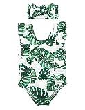 Newborn Baby Girls Swimsuit Leaf Print Swimsuit Bikini Sunsuit...