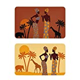 African American 2 Packs Magnets for Fridge Decorative, Clean Dirty Dishwasher Magnet Black Lady Reversible Dish Washer Refrigerator Sign Universal Magnetic Plate (20608537)