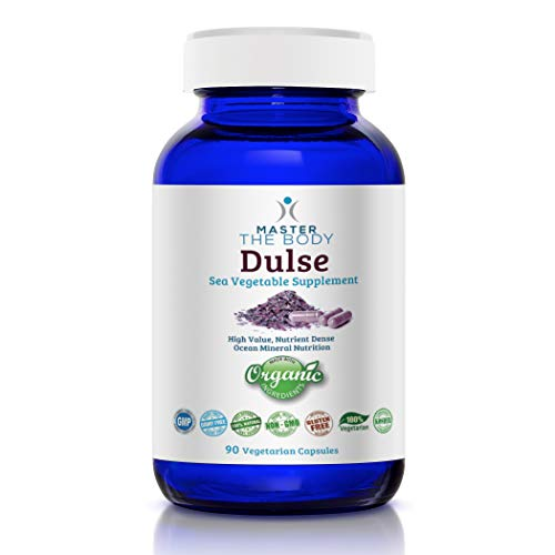 Dulse Capsules - Certified Organic 650 MG PER Capsule, 90 Count Bottle - The Same Source Used by Dr. Lorn Allison in The Master The Body Clinic!