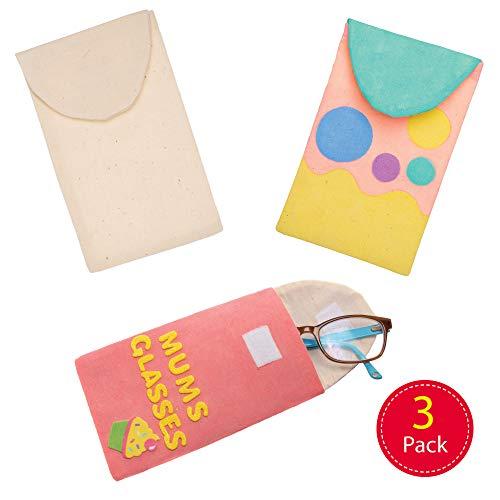 Baker Ross brillenkoker van stof om zelf vorm te geven, knutselset voor kinderen (3 stuks) creatieve sets om te knutselen en te decoreren in de lente