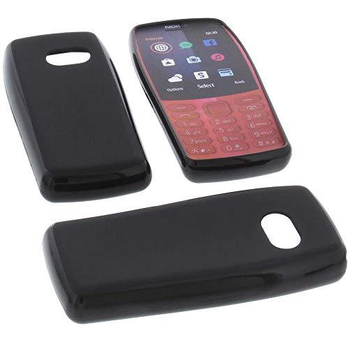 Hülle für Nokia 210 Tasche Gummi TPU Schutz Handytasche schwarz