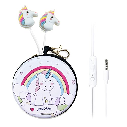 QearFun In Ear 3.5 mm 3D Cute Cartoon Animal Unicorn