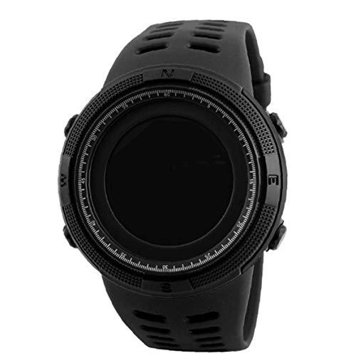 shentaotao Uhrmens Outdoor-Sport-schwarz-digital-elektronischer Countdown Easy Read Mit Leder Armband Wasserdicht Stoppuhr Uhren Und Schmuck