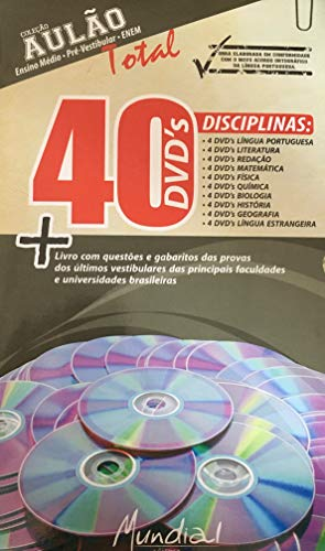 Coleção Aulão Ensino Médio, Pré Vestibular, ENEM - 40 DVDS