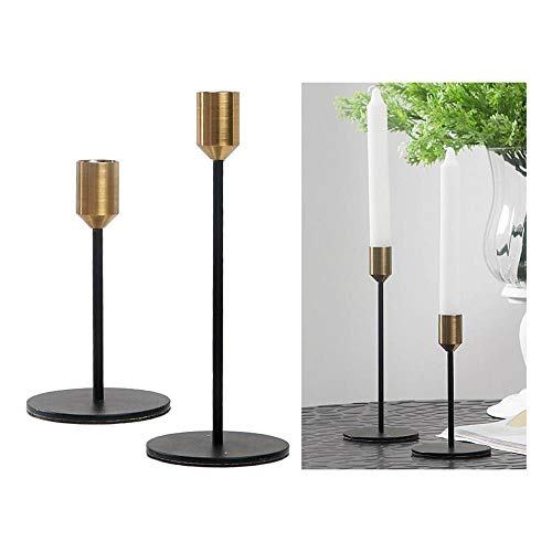 UKKD Tea Light Candle Holders Candlestick Table Wedding Candle Stand Candle Holder For Dinner Candlelight Candle Holder Decoration Black