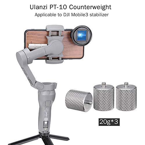 RONSHIN PT-10 Metalen Counterweight voor DJI Osmo Mobile 3 Counter Weight Gimbal Stabilizer Toegepaste balans op Moment Anamorfe Lens