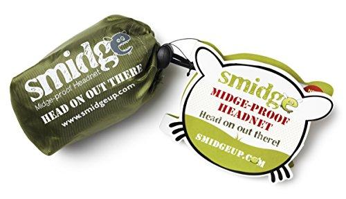 Smidge Unisexs Midge and Mosquito Proof Super Lightweight Head Net Green One Size