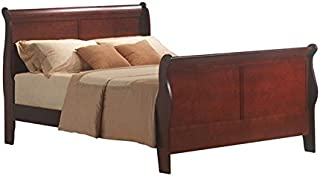 BOWERY HILL King Sleigh Bed in Cherry