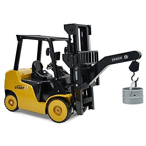 WANIYA1 Niños rc juguete coche control remoto construcción vehículo inalámbrico eléctrico coche rc carretilla elevadora camión todo terrenos horquilla paleta elevador palets camión modelo juguete rega