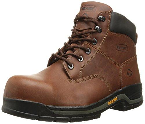 "WOLVERINE Men's Harrison Lace-Up Steel-Toe 6"" Work Boot, Brown, 8 4E US"
