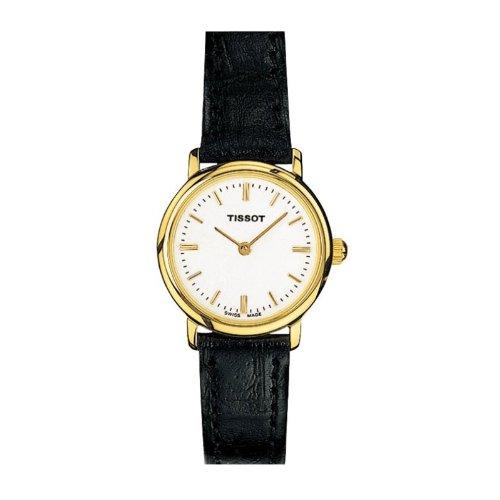 Tissot T57612111 - Reloj analógico de mujer de cuarzo con correa de piel negra
