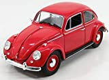 1967 Volkswagen Beetle Right Hand Drive Candy Apple Red 1/18 Diecast Model Car by Greenlight 13511