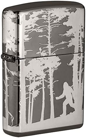 Zippo Squatchin in The Woods 360 Design Black Ice Pocket Lighter product image