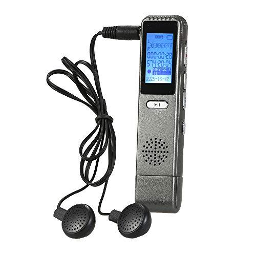Aibecy Mini grabadora de voz digital, grabadora de audio USB de 8 GB, reproductor de música MP3, compatible con grabación A-B repetición para reuniones, clases, conferencias entrevistas
