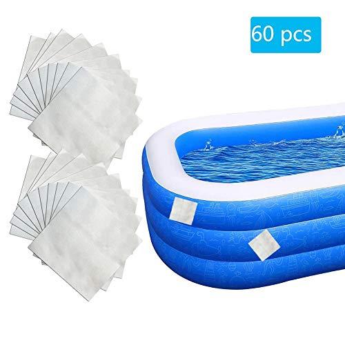 likeitwell 60 STK. Reparatur Pool Flicken, Ca. 5 X 5 cm Pro Flicken Für Teich- Und Poolfolien, Pool Reparatur-Set