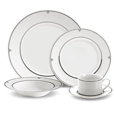 Mikasa Regent Bead 40-Piece Porcelain Dinnerware Set, Service for 8