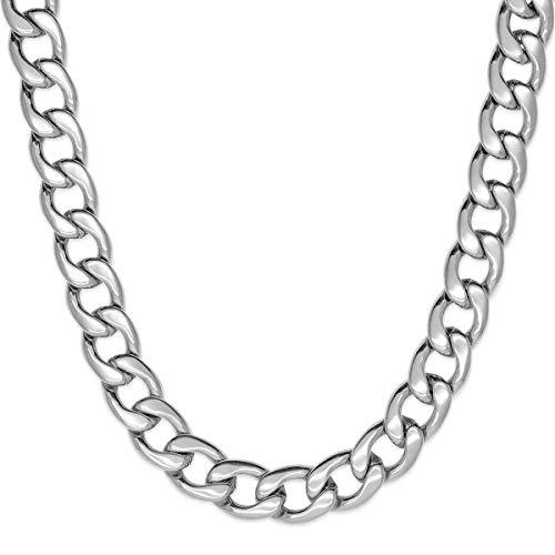Soul-Cats® Panzerkette für Männer, Herren aus Edelstahl in Silber, Breite:12 mm; Kettenlänge:60 cm