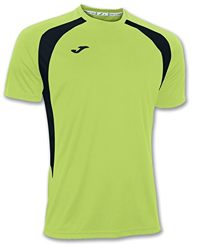 Joma Champion III Camiseta, Hombres, Verde Flúor-Negro-021, S