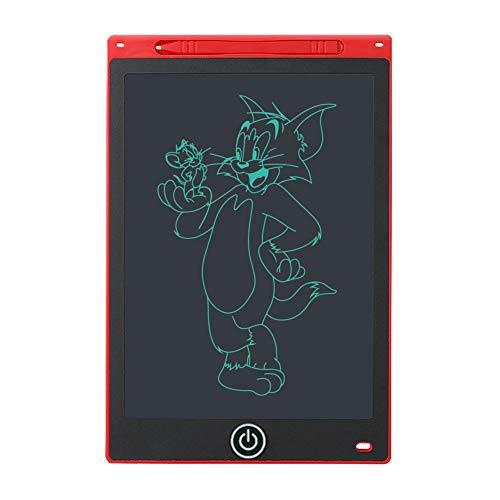 Hanbee Tableta de Escritura LCD 12 Pulgadas, Tableta Gráfica, Tableta de Escritura para niños, el hogar, Escuela, Oficina, Rojo