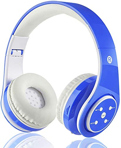Kids Wireless Bluetooth Headphone with Microphone volume limited foldable Earphone Children Stereo On Ear headset for PC/TV/Tablets/Smartphones