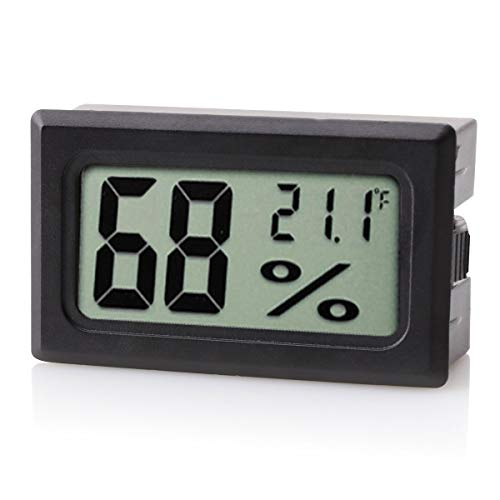 Scotte Digital Hygrometer for Humidors, 10-Second Refresh Rate, Battery Included, 5% Humidity and 1% Tempeture Accuracy for Cigar Humidors,
