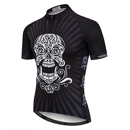 Cráneo Ciclismo Jersey de los Hombres del Pirata Ropa de la Bicicleta...