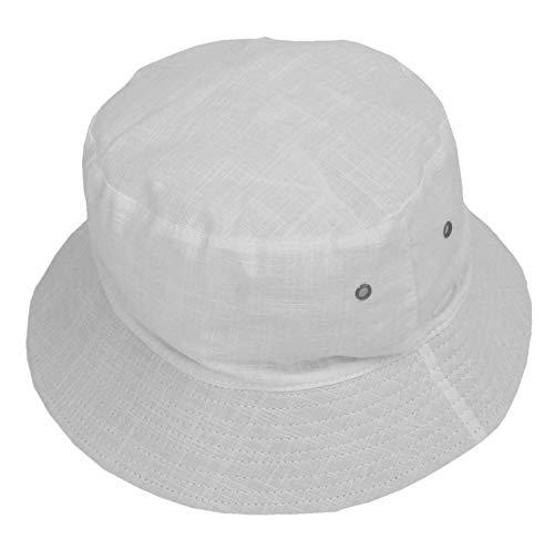 Cool4 Fischerhut Leinen Buschhut Anglerhut Fischer Hut Safarihut Bucket Hat Schlapphut Mütze A12 (Hellgrau (Offwhite))