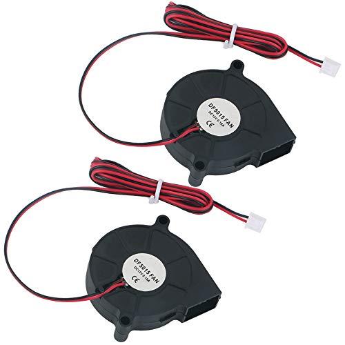 GTIWUNG 2Pcs Ventilador Turbina 12V, Ventilador de Enfriamiento DC con Cable de...