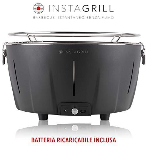 Clase Italia InstaGrill - Barbacoa de carbón sin humo, antracita