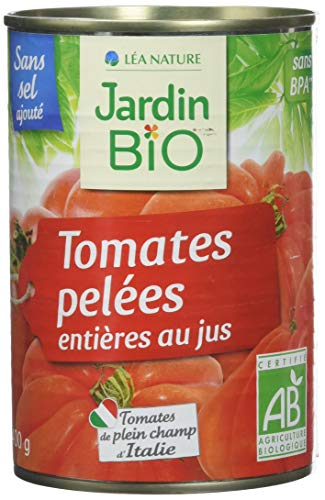Jardin BiO étic Tomates entières pelées au jus sans sel ajouté - 400 g