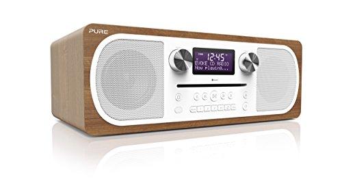 Pure Evoke C-D6 Stereo-All-in-One-Musikanlage (CD, DAB+ Digital-, UKW-Radio, Bluetooth inkl. Fernbedienung) walnuss