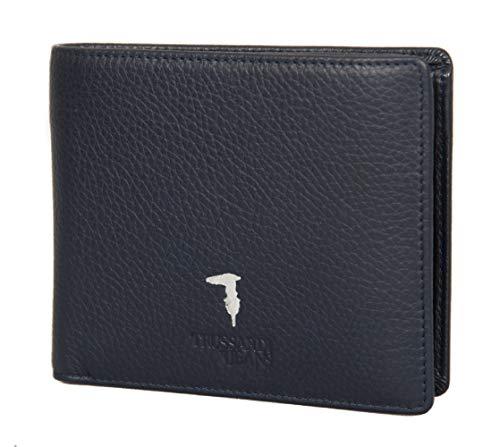 Trussardi Jeans Portafoglio uomo pelle articolo 71W00001 2P000181 WALLET FLAP COIN POCKET TUMBLED - cm.12x9,5
