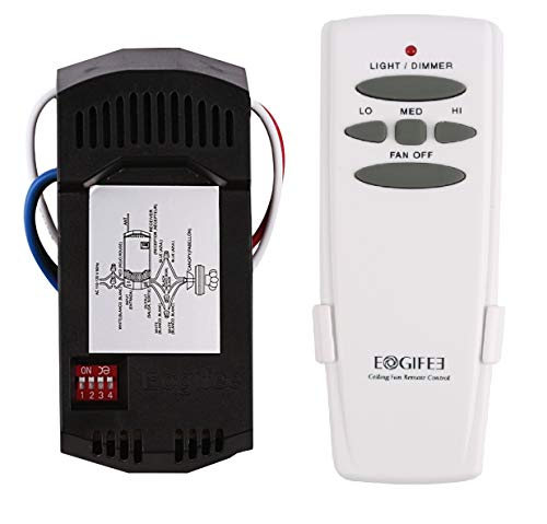 Eogifee Universal Ceiling Fan Remote Control and Receiver Kit Replacement of Hampton Bay Hunter Harbor Breeze HD5 Kit