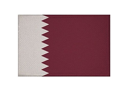U24 Aufnäher Katar Fahne Flagge Aufbügler Patch 9 x 6 cm