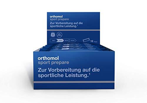 Orthomol Sport Prepare - Proteinriegel in der 16er Box - Mit BCAA Aminosäuren, Kreatin, Glucosamin & Hyaluronsäure - Protein Riegel VOR dem Training