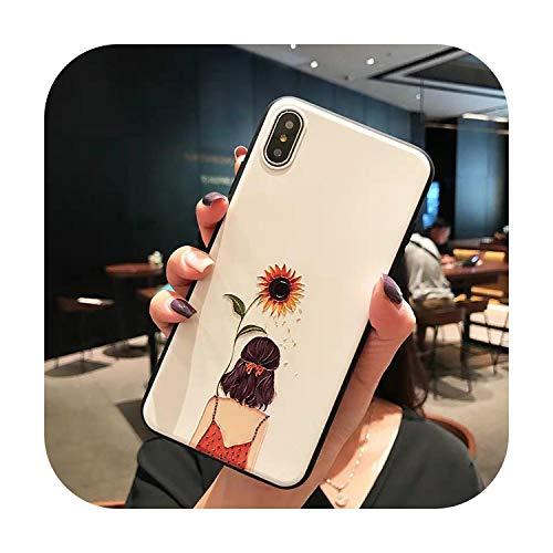 Lindo caso de las niñas para el teléfono de Coque iphone 7 8 6 6s Plus funda para iphone 11 Pro 11Pro XR X XS Max 5s se 5 s SE 2020 caso