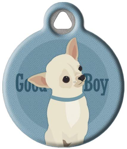 Dog Tag Art Good Boy - Chihuahua - Custom Pet ID Tag for Dogs and Cats Small Size