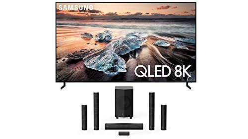 Samsung QN65Q900RB (7680 x 4320) 65' Ultra High Definition 8K QLED TV with an Enclave EA-1000-THX-US CineHome Pro CineHub Edition 5.1Ch Speakers (2021)
