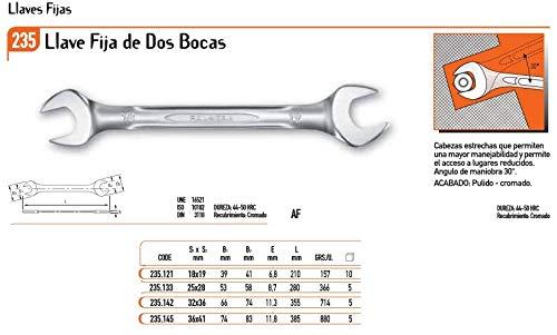ECOSPAIN Llave Fija Dos Bocas Palmera 235.121-18/19