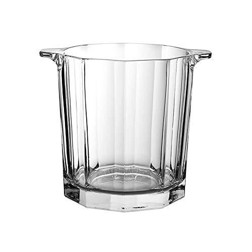 HDCDKKOU El cristal elegante cubo de hielo, portátil de cristal del cubo de Champán llevan la manija vino de hielo de contenedores de refrigeración for acampar la barra del partido-13x15cm (5x6inch) H