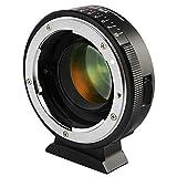 VILTROX マウントアダプター NF-M43X 0.71x スピードブースター マニュアルフォーカス Nikon G&Dレンズ→M4/3 マウント変換 パナソニックとオリンパスM43マウントカメラ適用