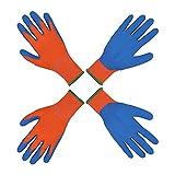 2 pares de guantes de jardinería para niños de 2 a 3 años, de 4 a 5 años y de 6 a 13 años de edad, con revestimiento de goma de espuma, guantes de trabajo para niñas y niños