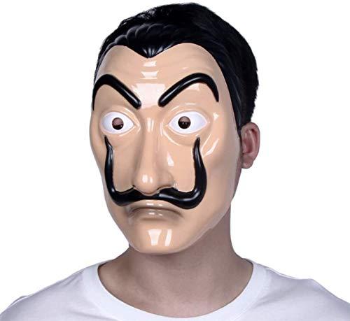 Maschera Dali Salvador Dali Realistico Viso CASA De Papel Lattice Plastica Halloween Partito Maschera Ladri Disguise Puntelli