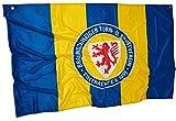Eintracht Braunschweig Zimmerfahne - Streifen - Fahne, Flagge 90 x 140 cm BTSV - Plus Lesezeichen Wir lieben Fußball