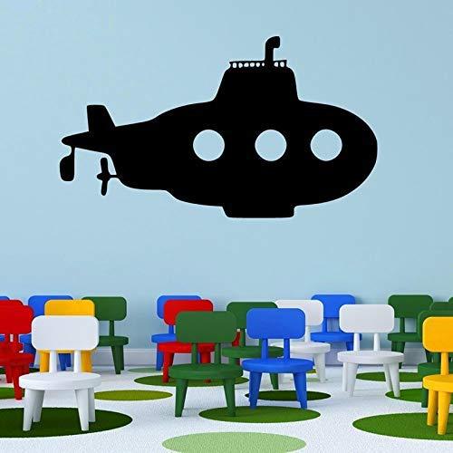 BailongXiao Kinder Schlafzimmer Dekor Vinyl Art Boy Poster Wandbild Kids Home Decor Flache Raumschiff Cartoon Dekor