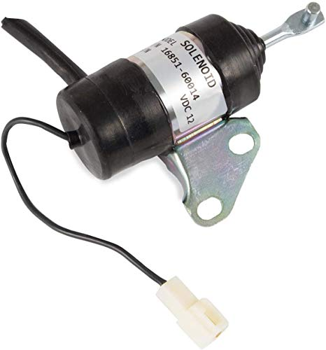 16851-60014 052600-4531 Fuel Shut Off Solenoid Compatible with Kubota BX2230D RTV900R RTV900T B7410D BX1500D BX1800D Z482 Z602 D722 D902 D782 D622 Z402 12V